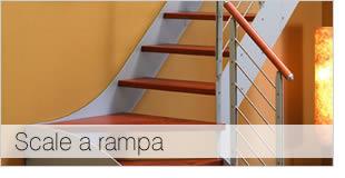 Foto scala a rampa in legno e metallo